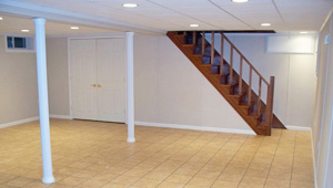 A complete finished basement system in a Corvallis home