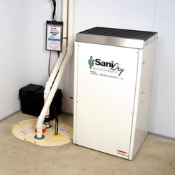 An ENERGY STAR® Rated basement dehumidifier installed in a home in Vancouver