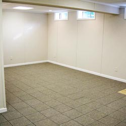 A beautiful finished basement room in Beaverton