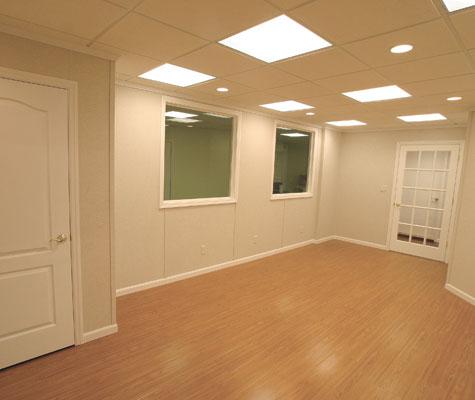 finished basement wood flooring in or best flooring for a basement in portland eugene salem. Black Bedroom Furniture Sets. Home Design Ideas