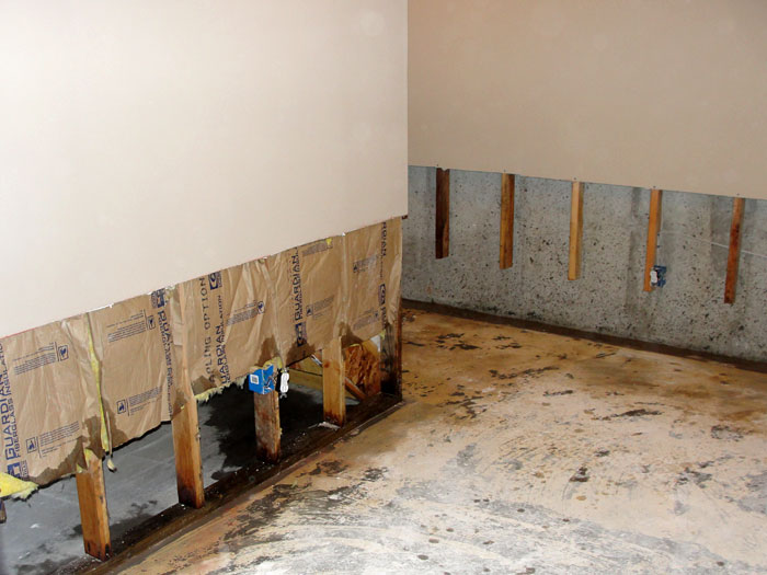 Once The Drywall Has Been Cut Away And All Other Damaged Wood Studs Insulation Have