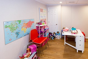 Children's playroom installed in a Vancouver basement