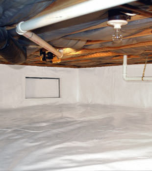 A complete crawl space repair system in Beaverton