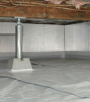 Installed crawl space insulation in McMinnville