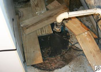 An ugly, clogged sump pump system in Hillsboro, Oregon