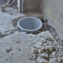 Placing a sump pit in a Lebanon home