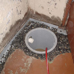 Installing a sump in a sump pump liner in a Salem home