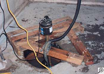 A McMinnville sump pump system that failed and lead to a basement flood.