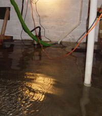 Several feet of floodwaters in a Troutdale basement