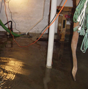 Foundation flooding in a Gresham,Oregon home