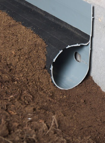 crawl space drain system installed in Canby