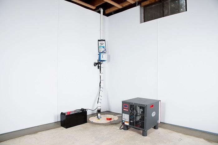 a complete basement waterproofing system installed in a Vancouver home & Basement Waterproofing System by Salem Beaverton Eugene Portland ...
