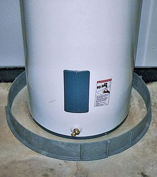 An old water heater in Clackamas, OR with flood protection installed