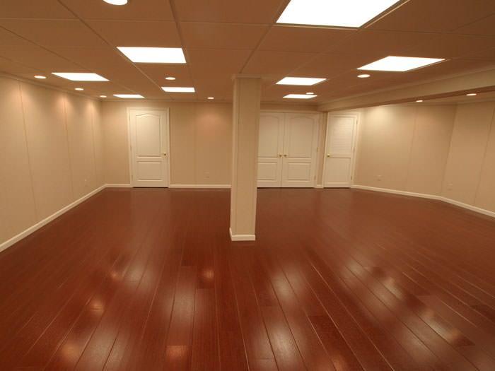 Wood Laminate Basement Floor Finishing In Salem Beaverton Eugene