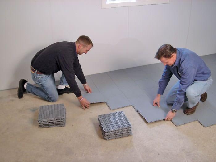 Basement Sub Floor Matting Options In, Basement Flooring System