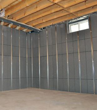 Installed basement wall panels installed in Gresham