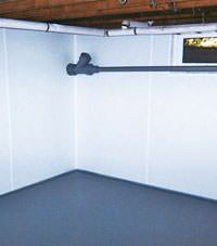 Plastic basement wall panels installed in a Corvallis, Oregon home