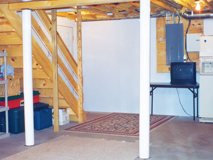 Awesome Bright White Plastic Basement Wall Covering; Plastic Basement Wall Panels  Installed In Salem, Oregon ...
